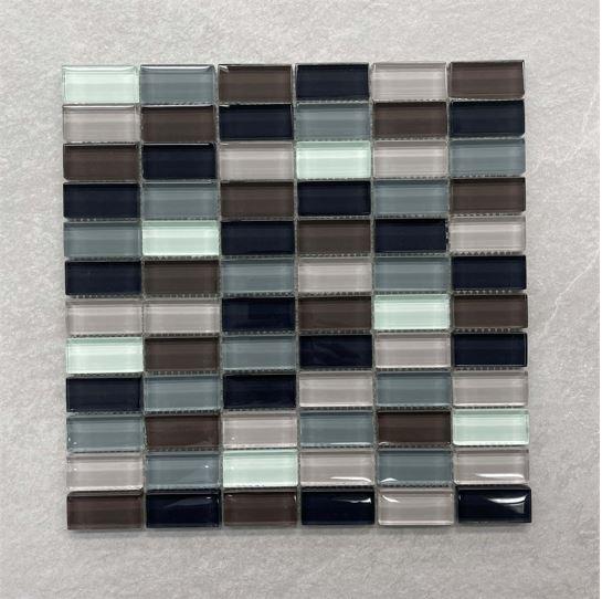 Mix Coloured Glass Mosaic 49x24mm 0119