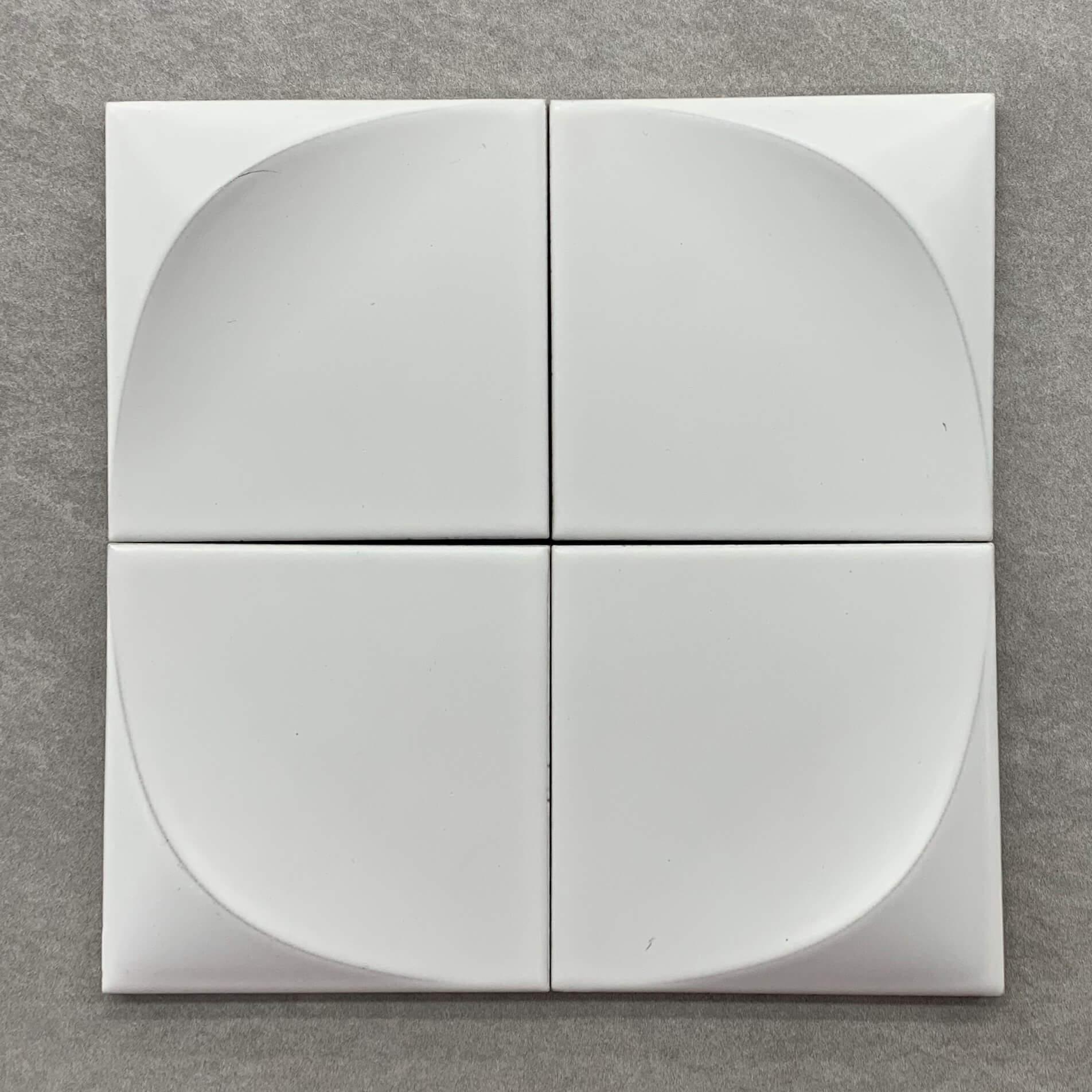 3D Effect White Matt Glazed Cushion Edge Porcelain Tile 3114
