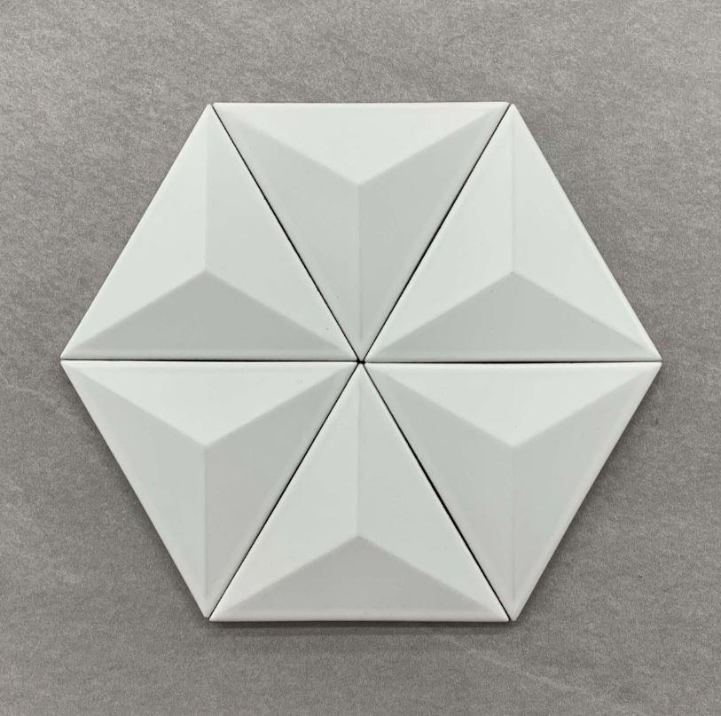 3D Effect White Matt Cushion Edge Glazed Porcelain 3115