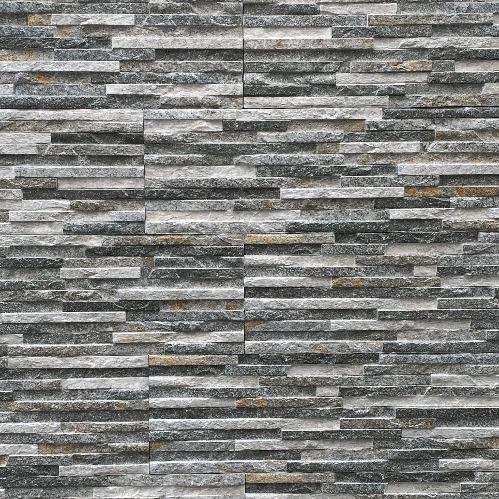 Centenar Mixed Grey Stack Stone Look Spanish Matt Porcelain Tile 3259