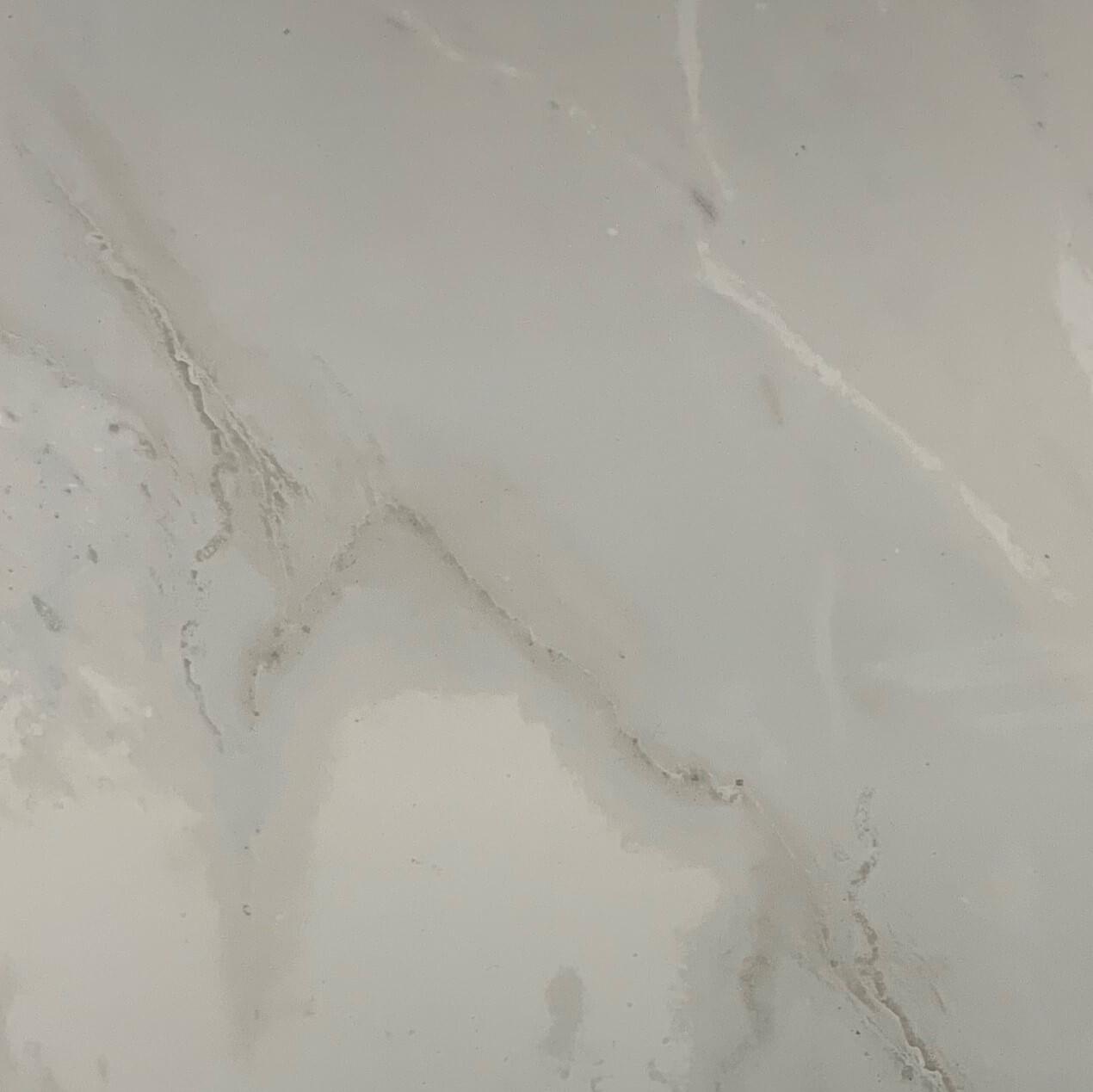 Crystal Bianco Marble Look Polished Rectified Porcelain Tile 3477