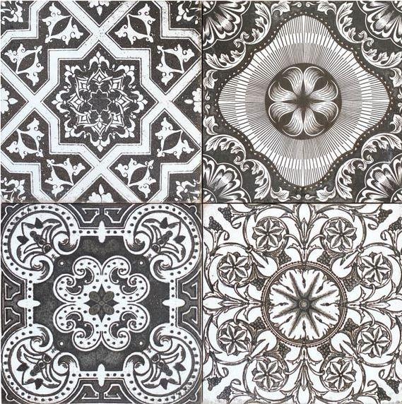 Atelier Black Matt Non Rectified Spanish In/Out Décor Tile 3543