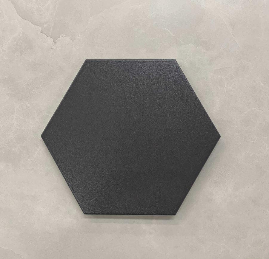 Graphite Hexagon Matt Spanish Porcelain Tile 3549
