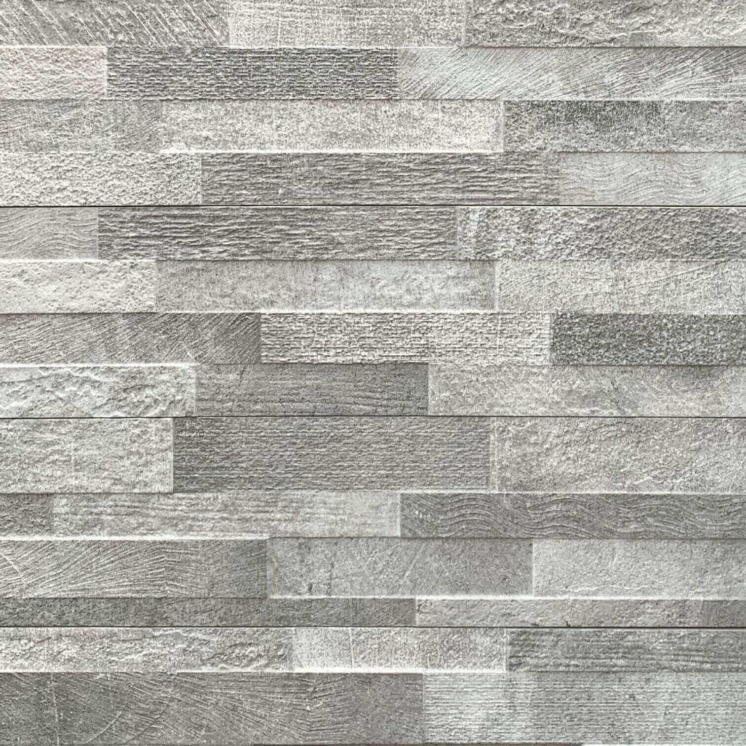 Volcano Grey Stack Stone Look Matt Rectified Italian Porcelain Tile 3588