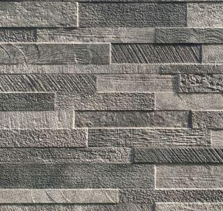 Volcano Dark Grey Stack Stone Look Matt Rectified Italian Porcelain Tile 3589