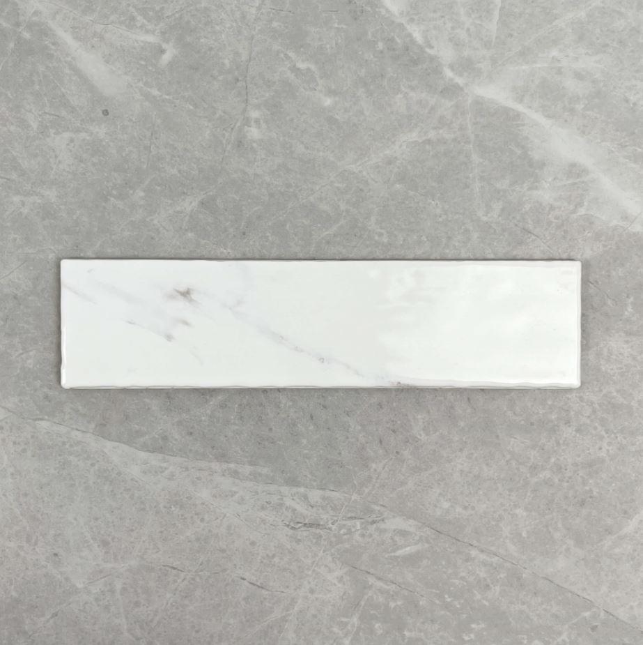 Carrara Marble Look Spanish Subway Wall Tile 3710
