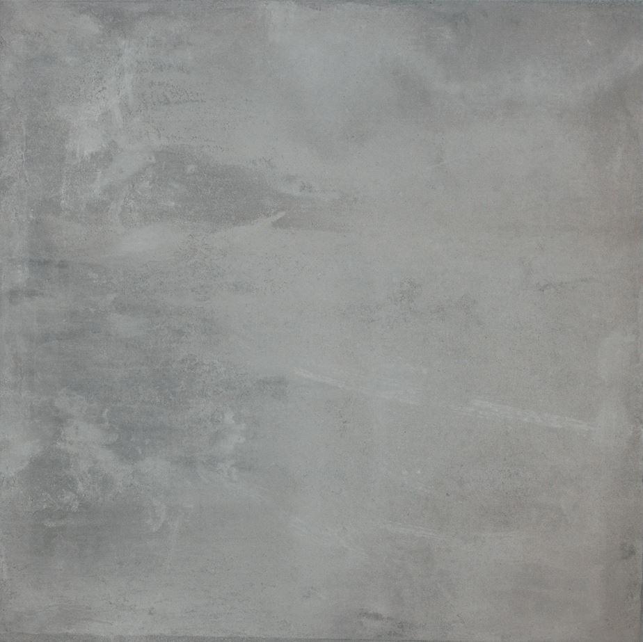 Smoke Grey Concrete Wash Matt Finish Rectified Italian Porcelain Floor Tile 3837