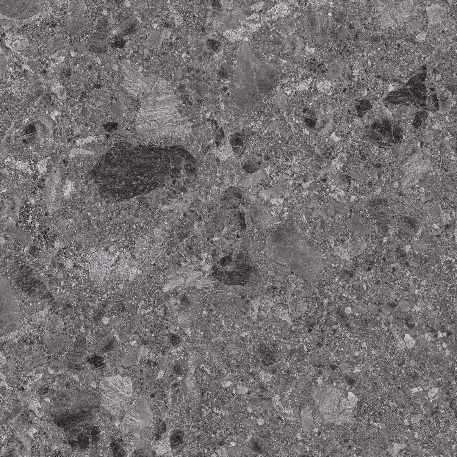 Breccia Dark Grey Terrazzo Look Rectified  Porcelain Paver 3848