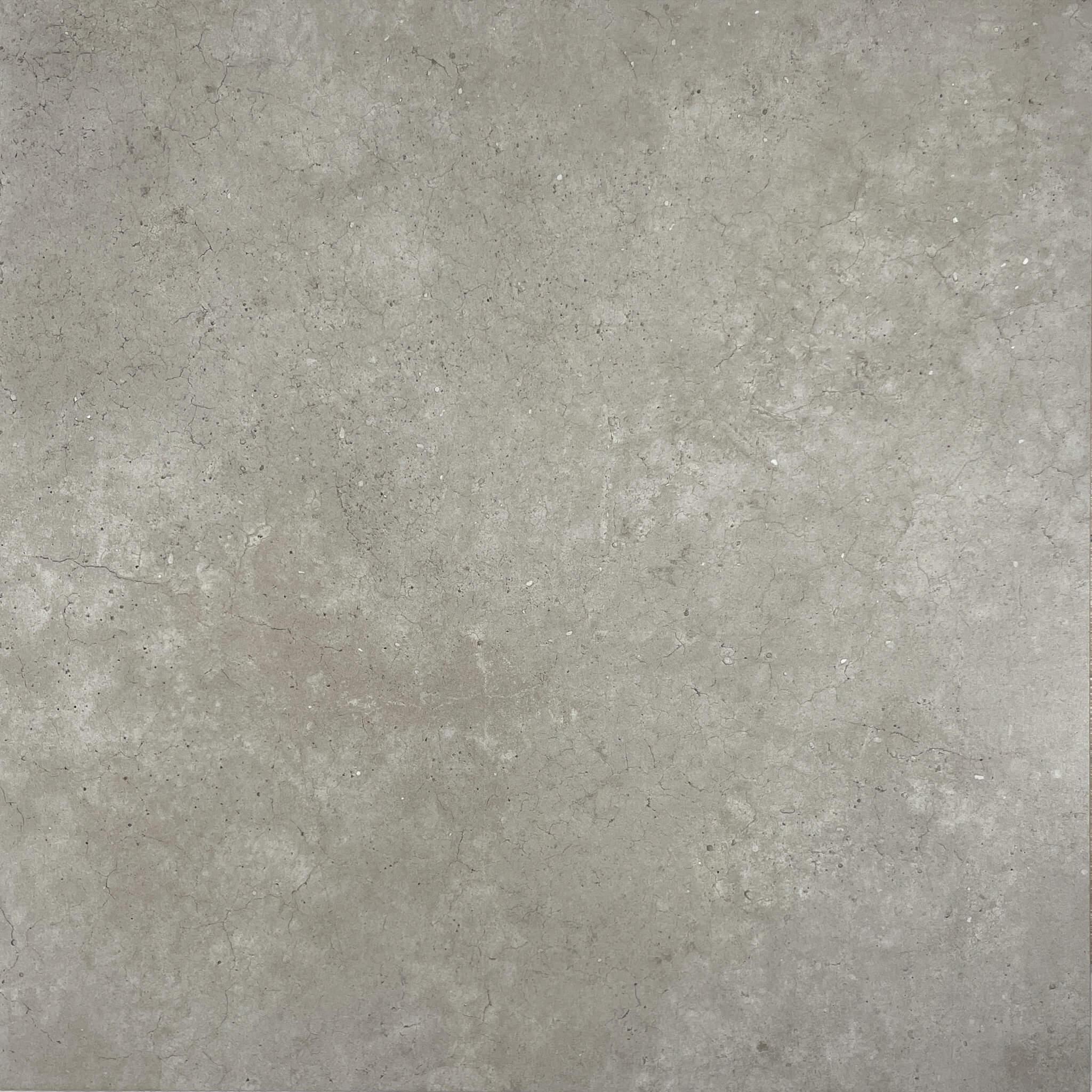 Industrial Silver Concrete Look Matt Finish Rectified Italian Porcelain Tile 3919