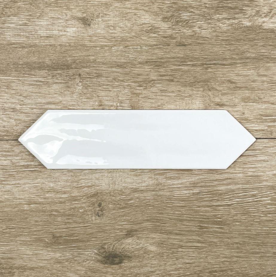 Picket White Gloss Ceramic Wall Tile 4182