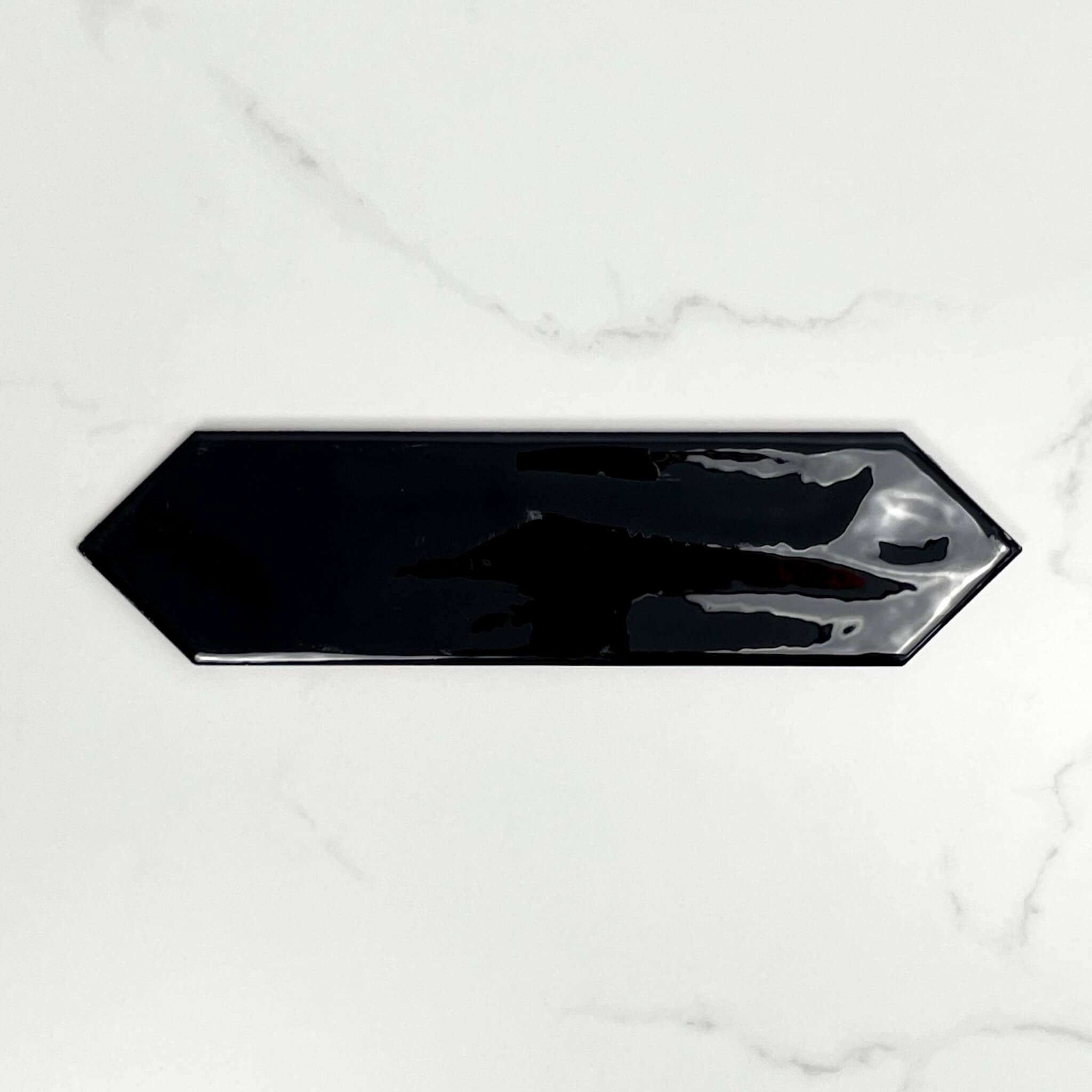 Picket Gloss Black Ceramic Wall Tiles 4183
