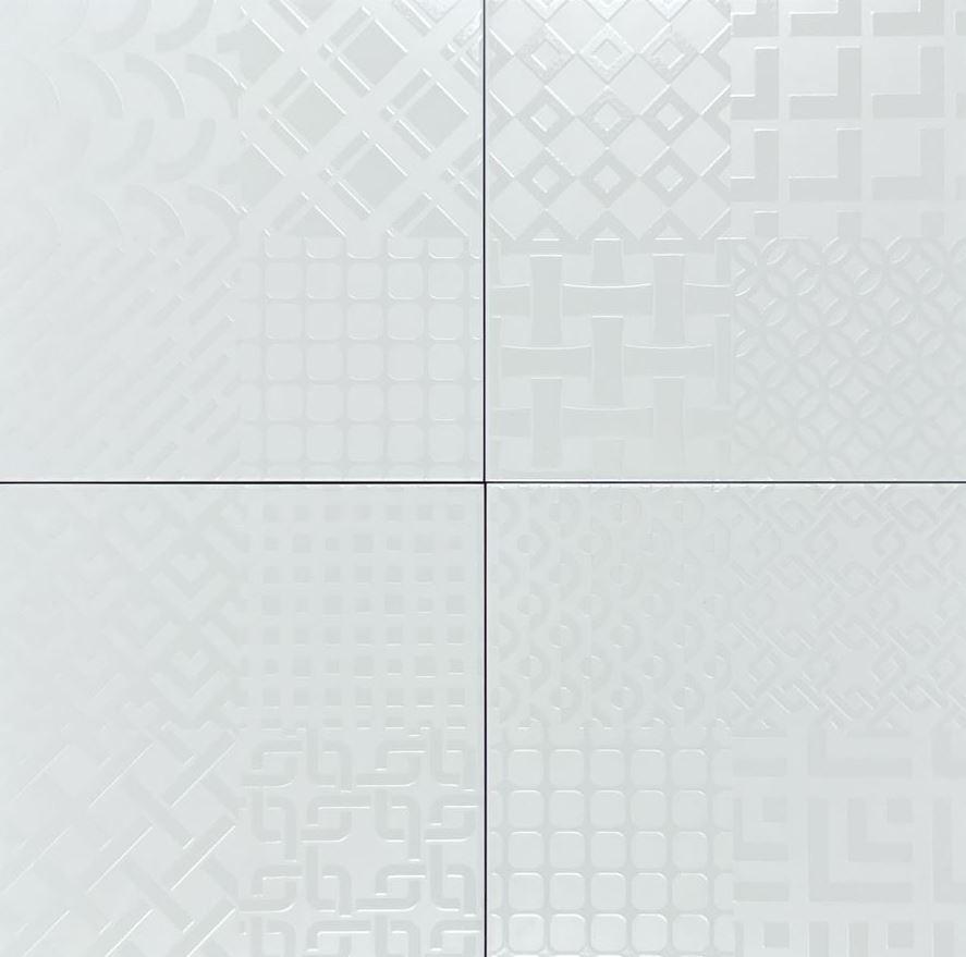 Geo Design Spanish White Gloss Non Rectified Ceramic Wall Tile 4197