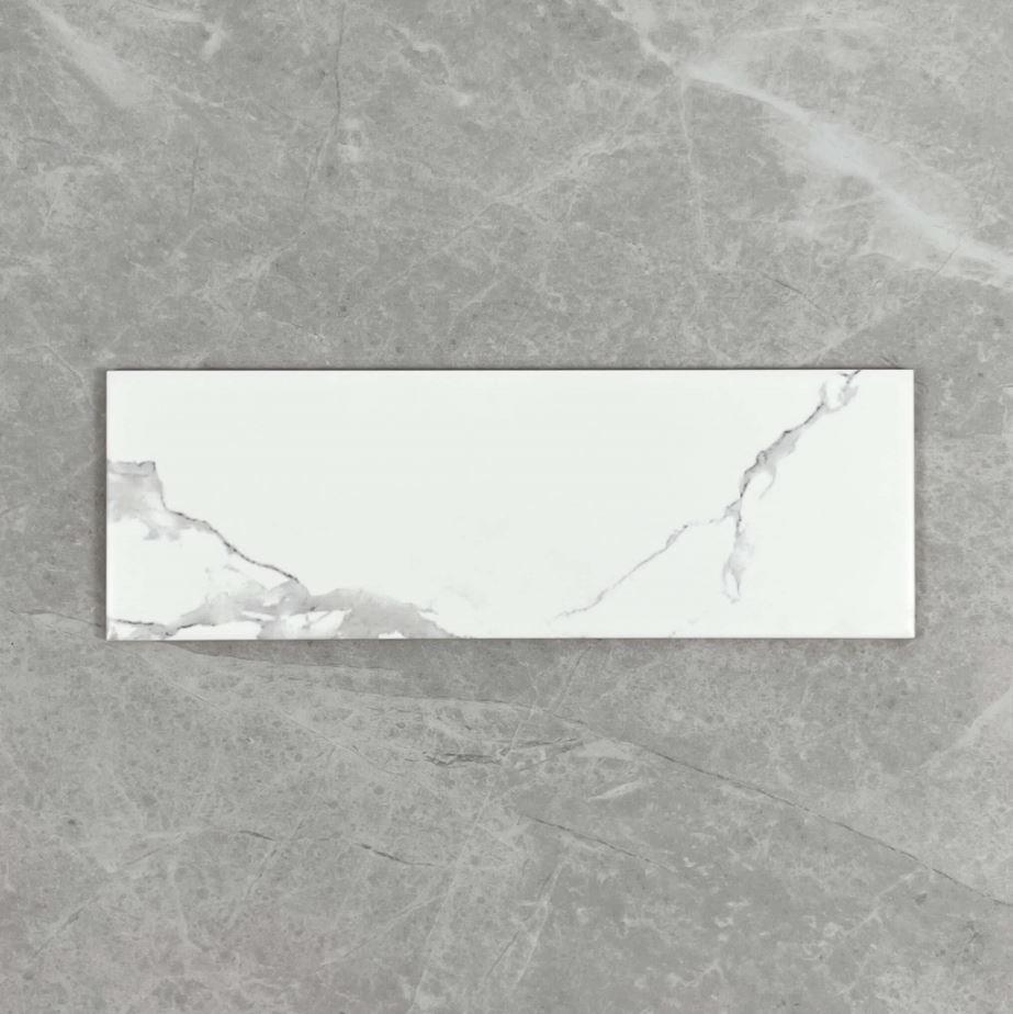 Carrara Look Matt Non Rectified Ceramic Subway Wall Tile 4214