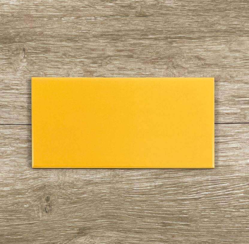 Tiger Yellow Gloss Ceramic Spanish Subway Wall Tile 4221