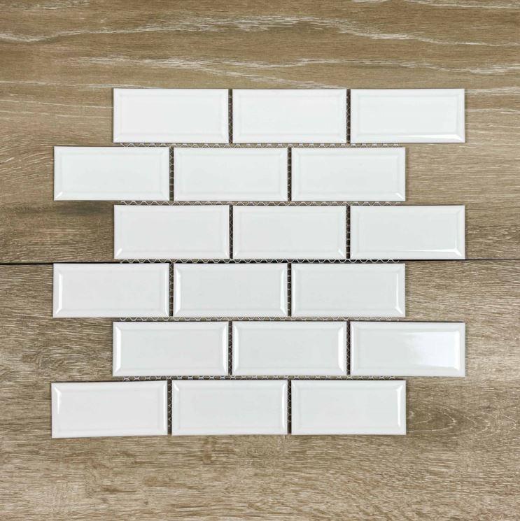 Gloss White Brick Pattern Mosaic 7510