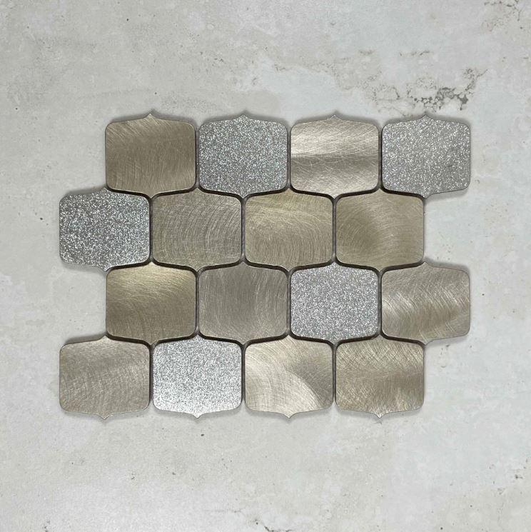Champagne Ogee Teardrop Aluminum Mosaic 7605
