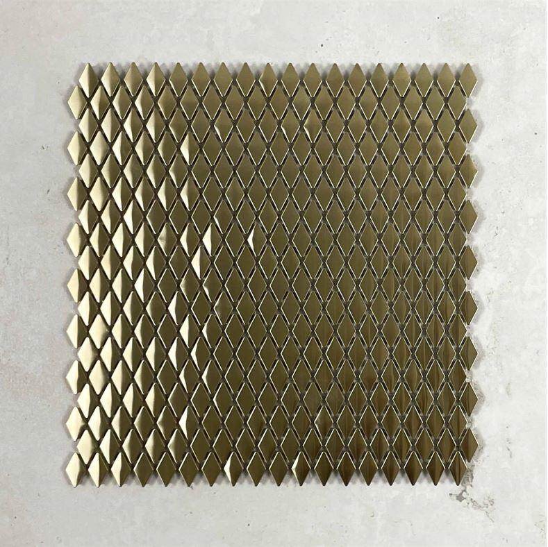 Diamond Gold Metal Mosaic 7635