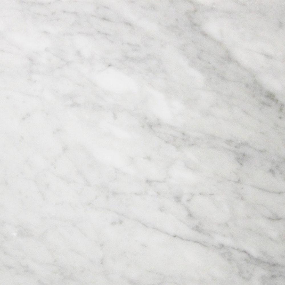 305x610x10mm Bianco Carrara Honed Italian Marble Tile (#8413)