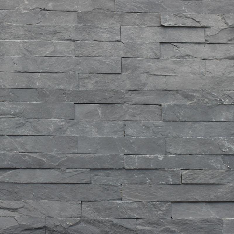 400x125mm Black Slate Natural Stackstone 8058 Tile