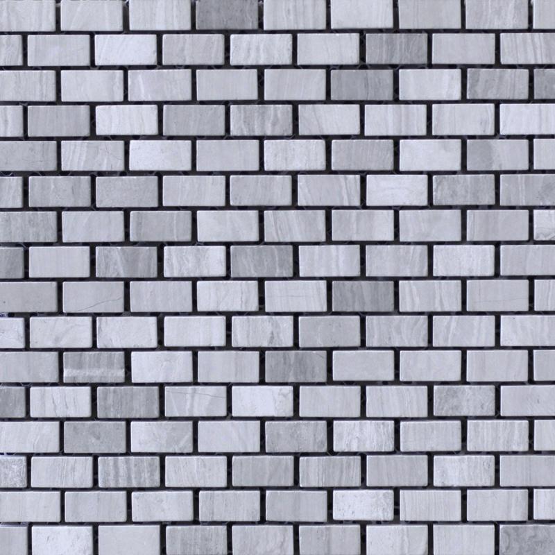 Brick Pattern Travertine Mosaic Tile (295x305mm sheet, 15x32mm pieces)(#7052)