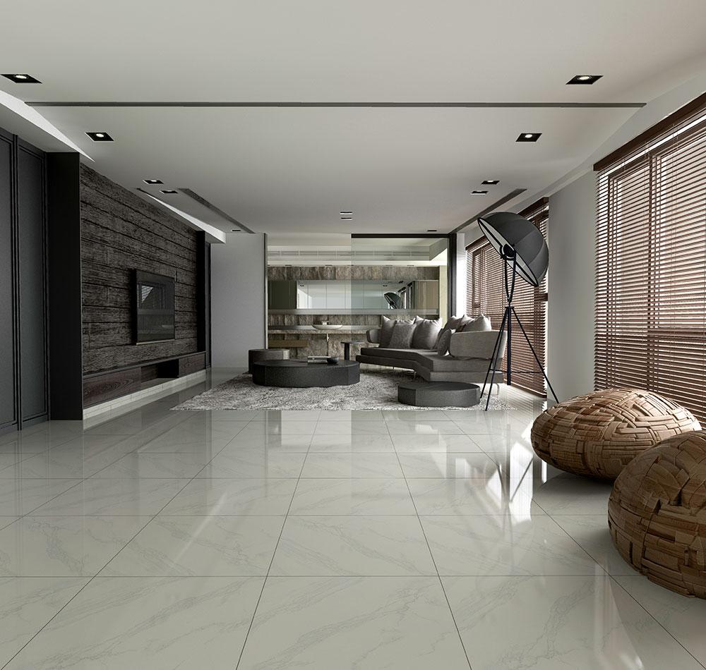 only 10 m2 carrara look nano pre sealed polished porcelain. Black Bedroom Furniture Sets. Home Design Ideas
