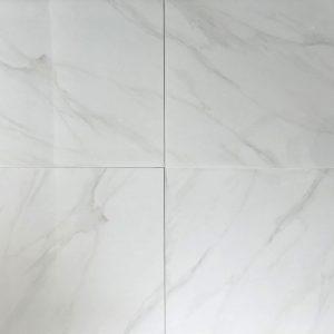 Carrara White Glazed Polished Porcelain Tile