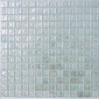 Crystal White Glass Mosaic Tile (20x20x8mm Mosaic Sheet) (#7043)