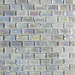 Crystal White Glass Mosaic Tile