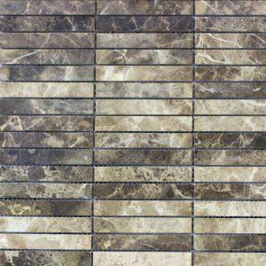 Emperador Dark Polished Marble Mosaic Tile