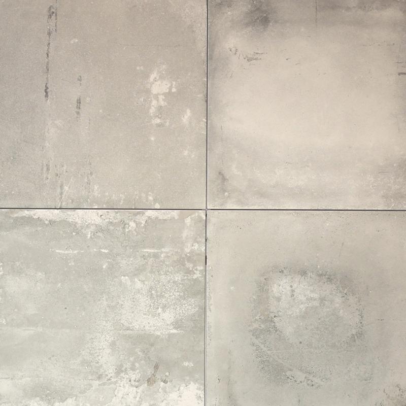 500x500mm Factory Grey Portuguese Concrete Look Glazed Porcelain Floor Tile (#1612)
