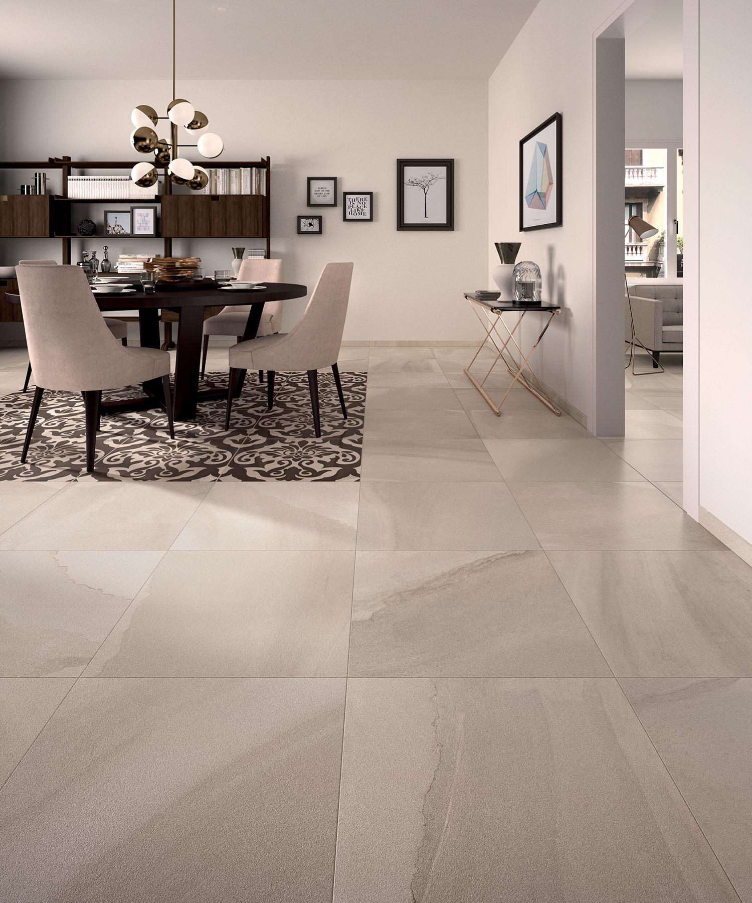 Only 25 M2 Fluido Sabbia Lappato Porcelain Italian Floor Tile