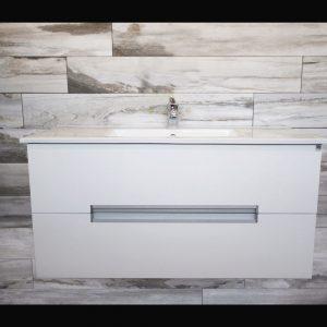 Glossy White Wall Hung Vanity