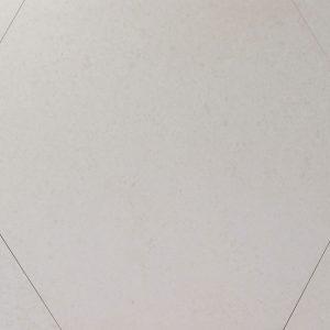 Hexagonal Feathered Cream Matt Porcelain Tile