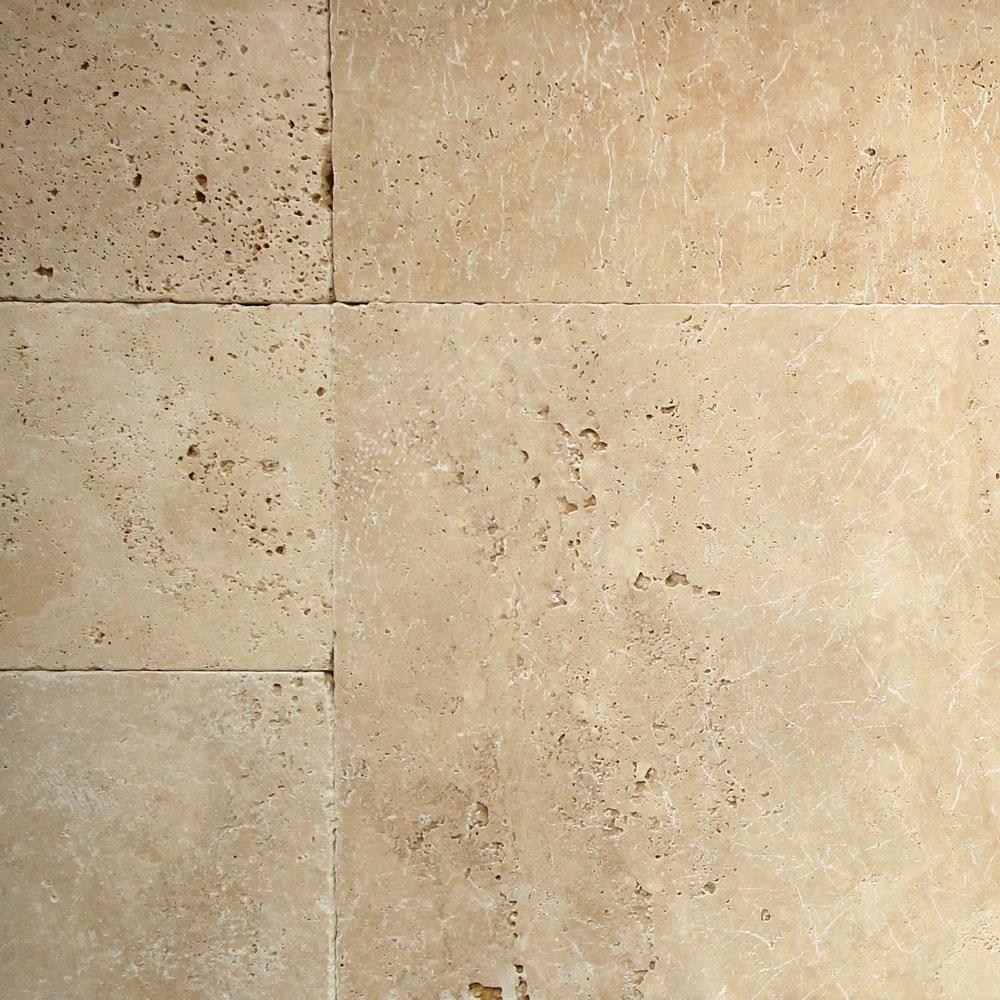 12mm Light Medium Shade Tumbled French Pattern Travertine Tile (#8518)