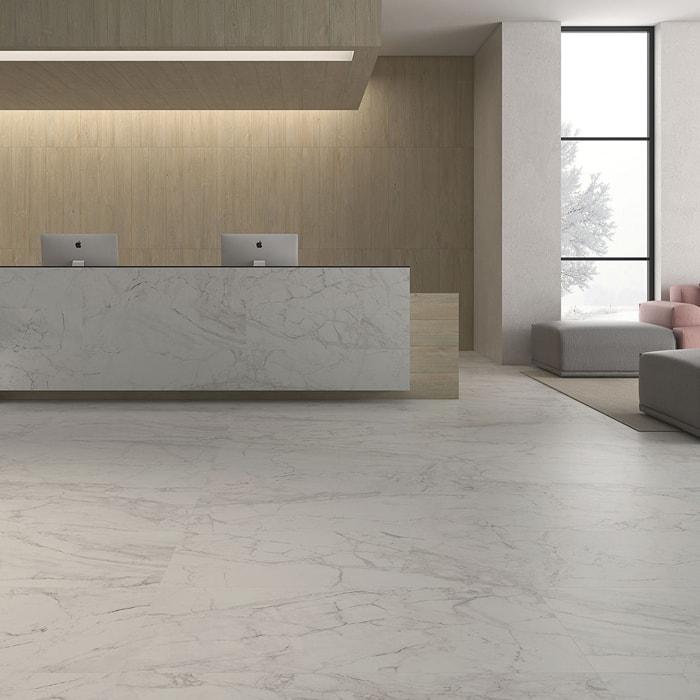 Bianco Porcelain Tile: Only $47 M2! Lucca Bianco Glazed Polished Spanish