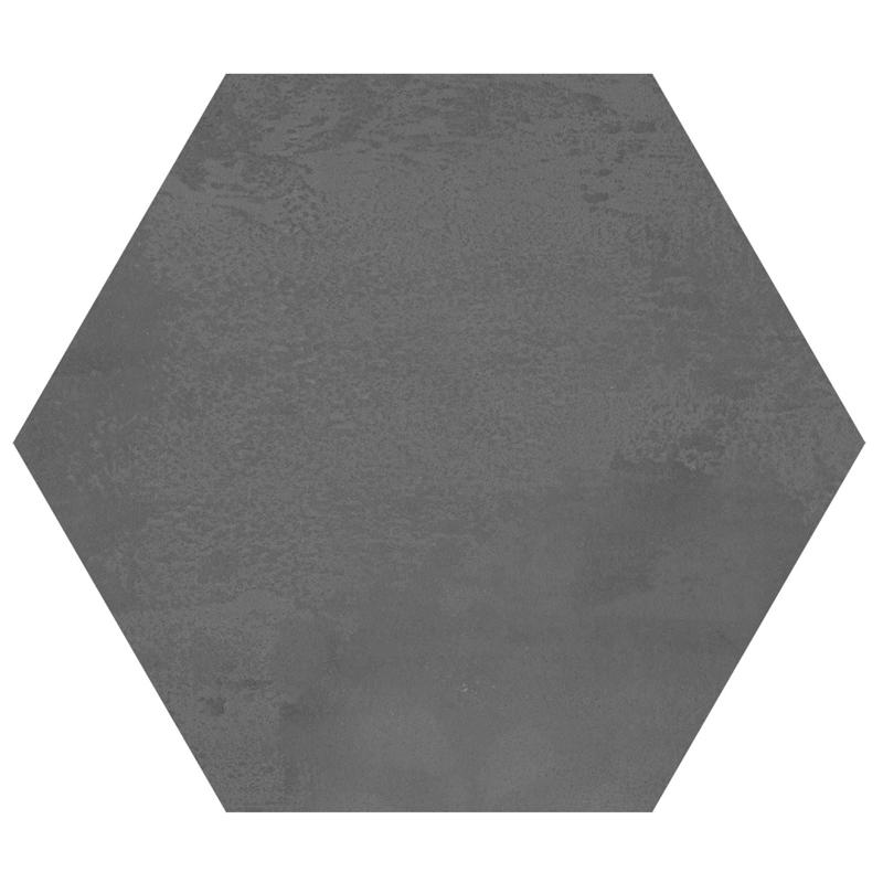 175x175mm Madelaine Antracite Hexagon Matt Spanish Floor and Wall Tile (#1639)
