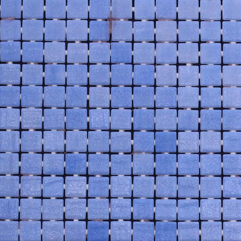 25x25mm Nieve Celeste Light Blue Spanish Dot Mounted Pool Mosaic Tiles (310x467mm Sheet) (#7418)