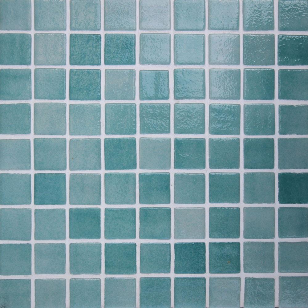 25x25mm Nieve Green Dot Mounted Spanish Pool Mosaic Tile (310x467mm Sheet) (#7416)