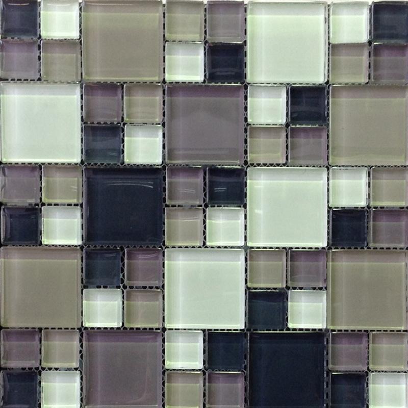 Nominal Size Green Wood Glass Mix Mosaic Tile 300x300mm