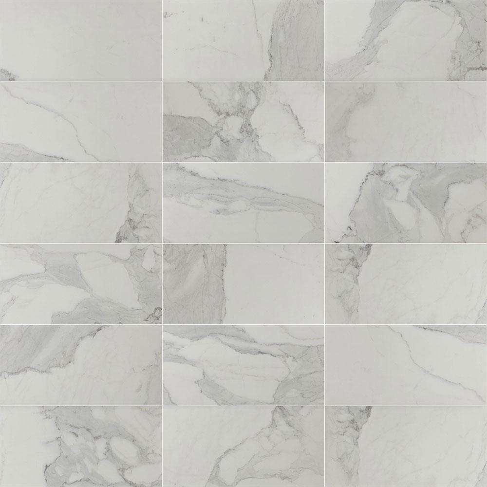 290x590mm Olimpo Calacatta Look Glazed Polished Porcelain Tile (#1608)