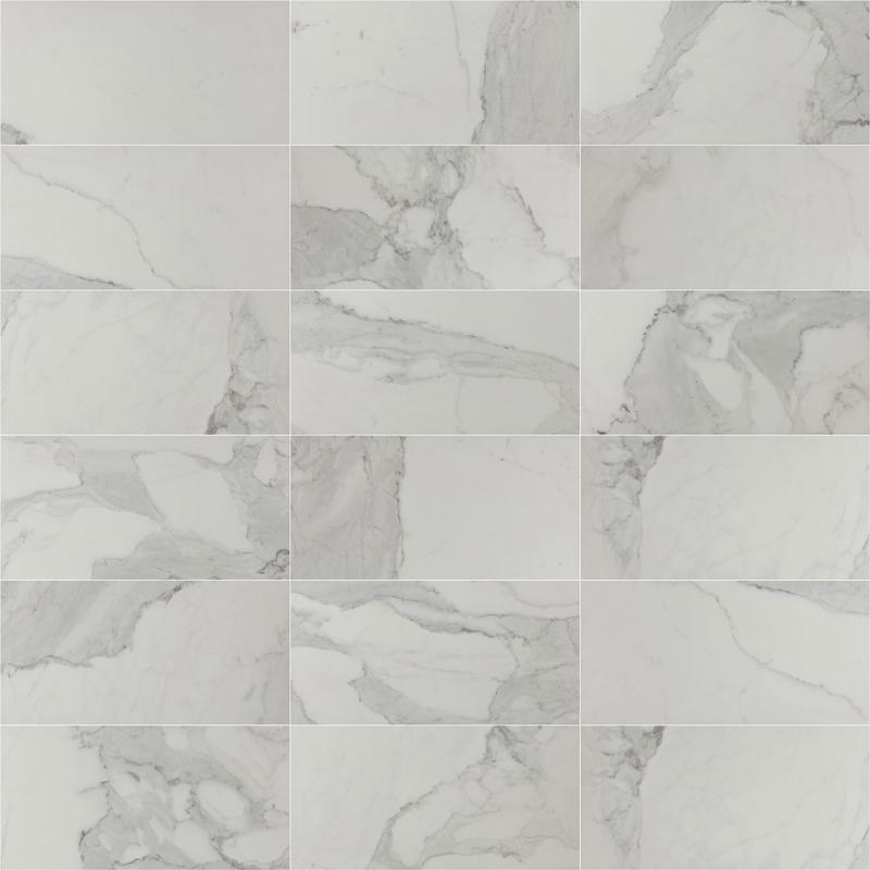 377x750mm Olimpo Calacatta Look Matt Spanish Porcelain Tile (#5253)
