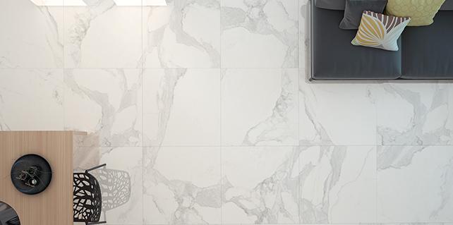 Olimpo Glazed Polished Calacatta Look Spanish Tiles