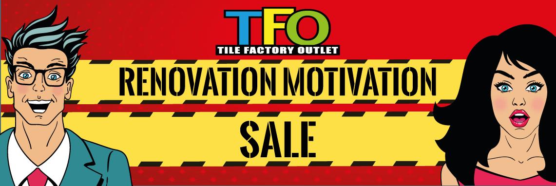 Renovation Motivation Sale