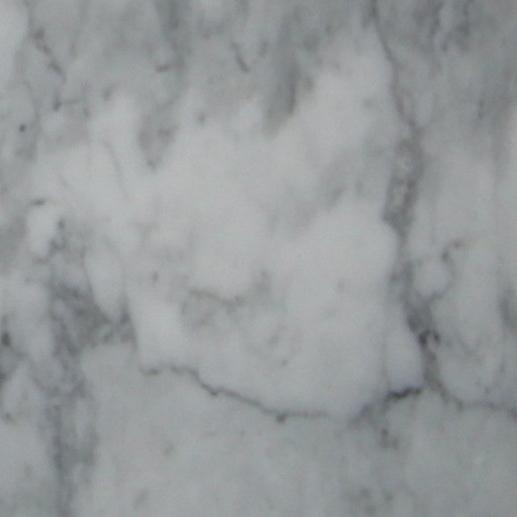 305x610x10mm Polished Bianco Carrara Bevelled Italian Marble Tile (#8324)