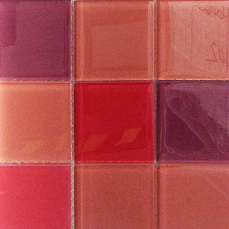 Red, Orange, Purple Glass Mosaic Tile
