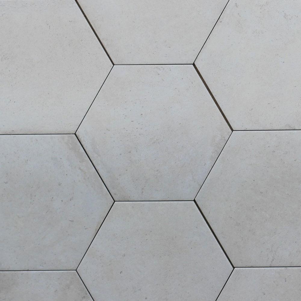 Riabita Hexagon Shabby Chic R10 Italian Porcelain Tile & 240x277mm Riabita Hexagon Shabby Chic R10 Italian Porcelain Tile ...