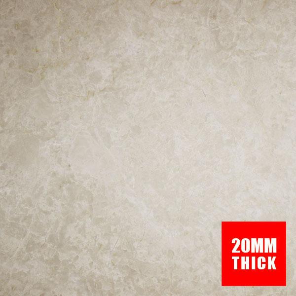 600x600x20mm Sahara Beige Polished Marble Floor Tile (#8073)