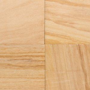 Teak Wood Sandblasted Indian Sandstone Tile