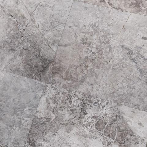 610x610x15mm Tundra Grey Polished Light Marble Tile (#8060)