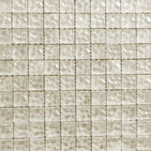 Uneven Silver Foil Glass Mosaic Tile